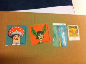 Selbst gestaltete Briefmarken von einer unserer kreativen Autorinnen