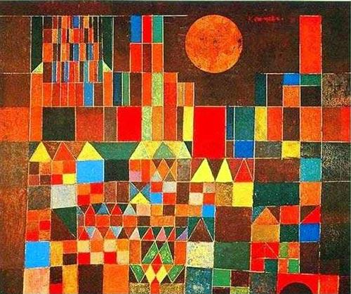 Burg und Sonne von Paul Klee